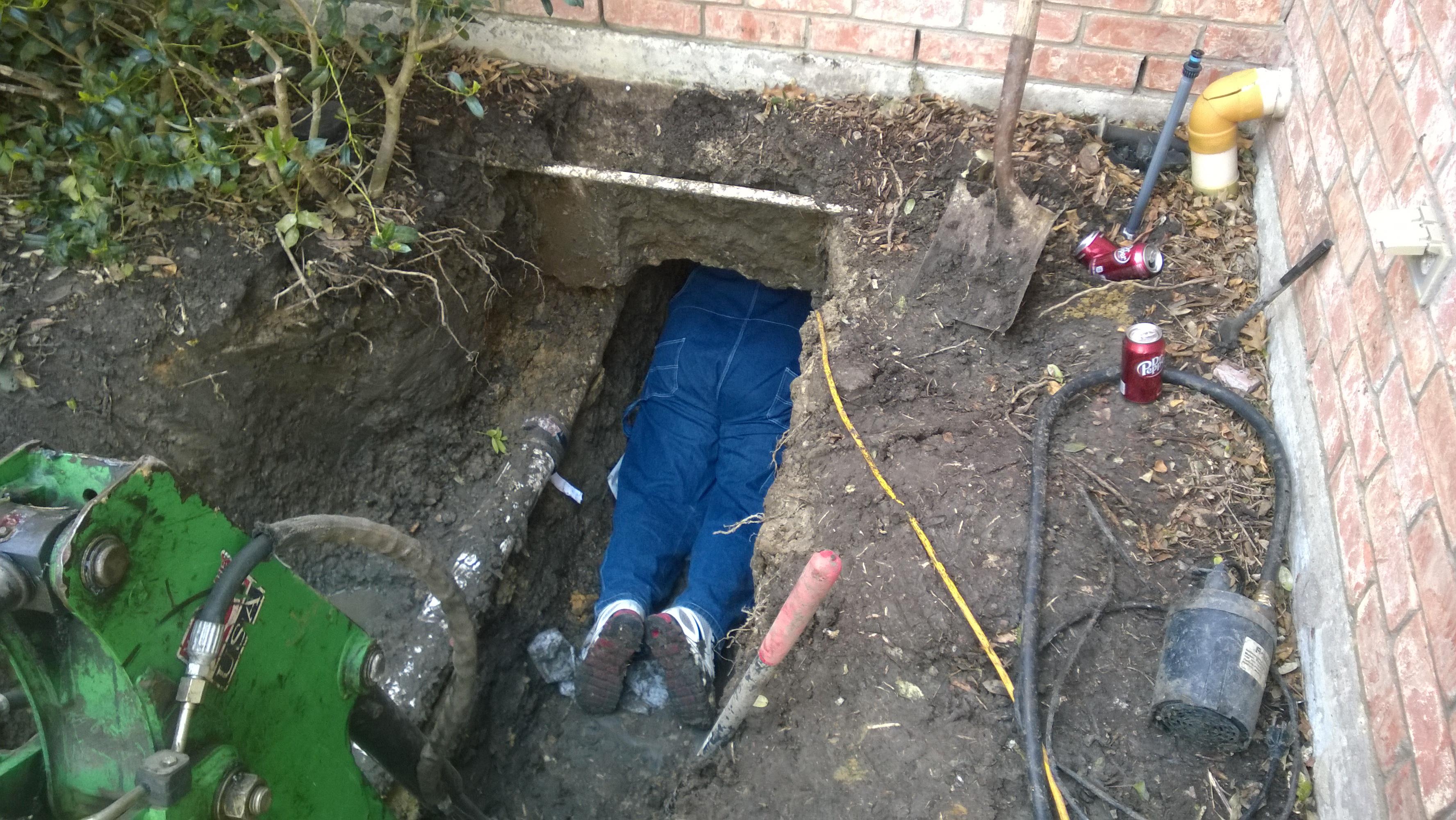 gfb plumbing sewer line repair houston foundation slab repair