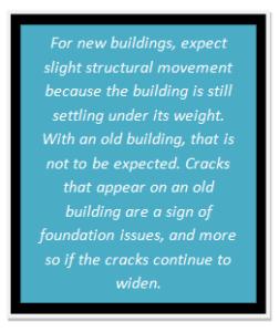 Cracks explain foundation issue
